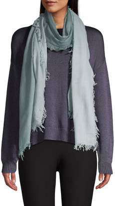 Eileen Fisher Ombre Wool Cashmere Fringe Scarf