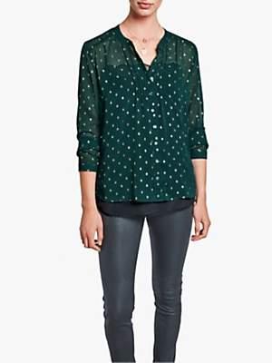 Hush Alessia Shirt, Diamond/Gold