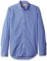 Franklin Tailored Men's Slim-Fit Long-Sleeve Small-Scale Gingham Shirt