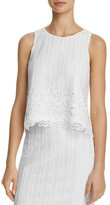 Aqua Border Lace Sleeveless Top - 100% Exclusive