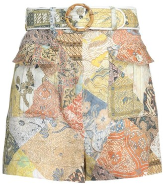 Zimmermann Brightside Patchwork Shorts