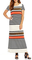 Gibson & Latimer Striped Knit Dress