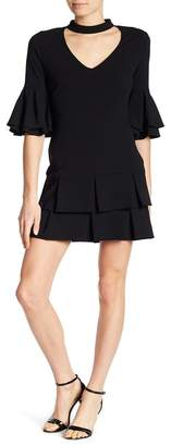 Alexia Admor Choker Neck Ruffle Sleeve Dress