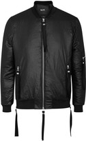 Blood Brother Shine Black Satin Bomber Jacket