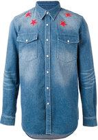 Givenchy denim star embroidered shirt - men - Cotton - S