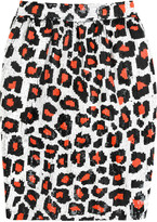 Ashish Sequined leopard-pattern skirt