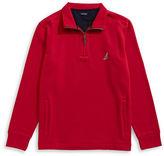 Nautica Big and Tall Quarter-Zip Fleece Sweater