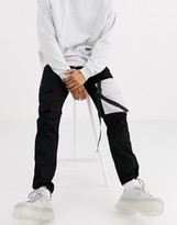 Sixth June cargo trouser with reflective pocket and clips in black