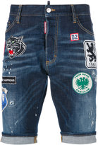 DSQUARED2 embroidered patch shorts - men - Cotton/Polyester/Spandex/Elastane - 46