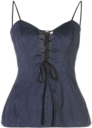Brock Collection sleeveless lace-up top