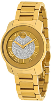 Movado Bold 3600255 Women's Gold Ion-Plated Stainless Steel Watch with Crystal Accents