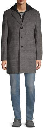 Saks Fifth Avenue Wool-Blend Plaid Top Coat
