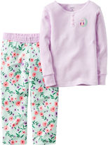 Carter's 2-pc. Purple Stripe Fleece Pajama Set - Baby Girls newborn-24m