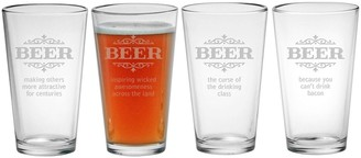 Susquehanna Glass Beer Making Others Attractive Pint Glasses (Set of 4) 16 oz