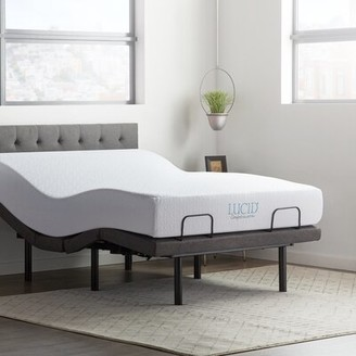 Adjustable Bed Base and Mattress Lucid Comfort Collection Size: King