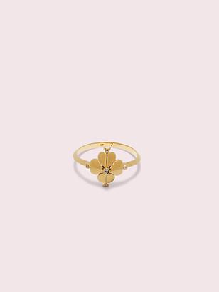 Kate Spade Legacy Logo Spade Flower Ring
