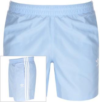 adidas 3 Stripes Swim Shorts Blue