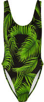 Norma Kamali Marissa Printed Swimsuit - Green