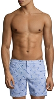 Parke & Ronen Men's Catalonia Embroidered Seersucker Swim Trunks