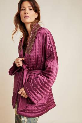 Anthropologie Embellished-Quilted Kimono