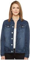 Jag Jeans Lowen Stretch Jacket in Crosshatch Denim in Thorne Blue Women's Coat