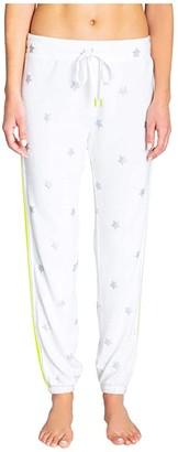 PJ Salvage Neon Pop Star Joggers (Ivory) Women's Pajama