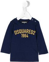 DSQUARED2 logo print long sleeve T-shirt - kids - Cotton - 9 mth