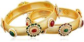 Chamak by Priya Kakkar Gold and Multi-Colored Stone Bangle Bracelet, 2.75""