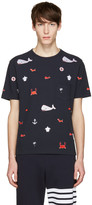 Thom Browne Navy Ss Pocket T-shirt