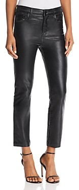 J Brand Ruby High Rise Crop Stovepipe Jeans in Galactic Black