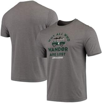 Life is Good Men's Heathered Gray Michigan State Spartans Wander Cool T-Shirt