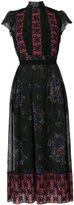 Coach mixed print lacework dress