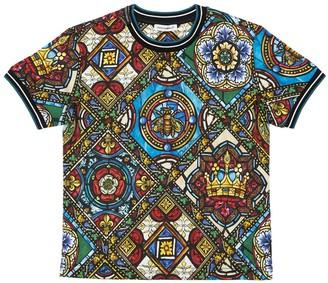 Dolce & Gabbana All Over Print Cotton Jersey T-shirt