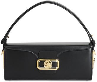 Lanvin Clasp Box Leather Crossbody Bag