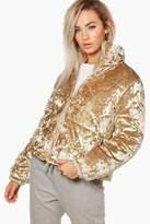 boohoo Abigail Velvet Padded Jacket