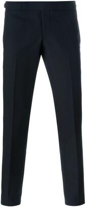 Thom Browne Low Rise Skinny Side Tab Trouser In 2 Ply Fresco