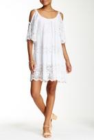 Luma Lace Trim Cold Shoulder Dress