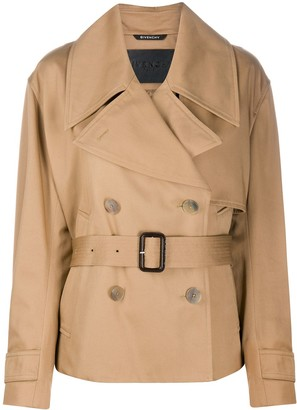 Givenchy Short Cotton Gabardine Trench