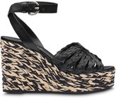 Prada braided wedge sandals