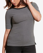 Lauren Ralph Lauren Plus Size Striped Stretch T-Shirt