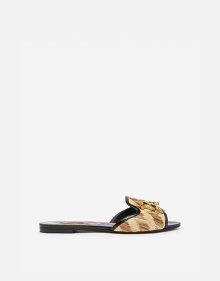 Dolce & Gabbana Giotto Sliders With Baroque Logo