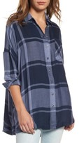 Free People Women's Oversized Plaid Tunic