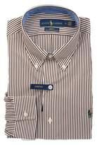 Ralph Lauren Men's White/brown Cotton Shirt.