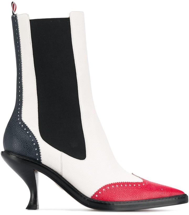 Thom Browne Brogued Wingtip Chelsea Boots