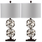 Safavieh Haley Double Sphere Table Lamps (Set of 2)