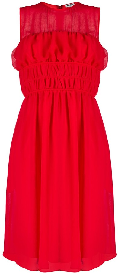 Kenzo Ruched Waist Dress