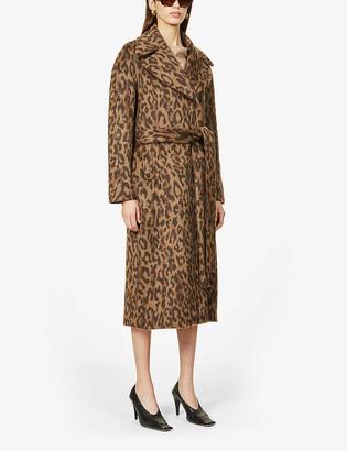 Frenken Water leopard-print woven coat