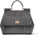 Dolce & Gabbana Printed glossed-leather tote