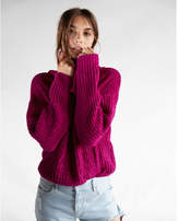 Express cozy chenille cowl neck sweater