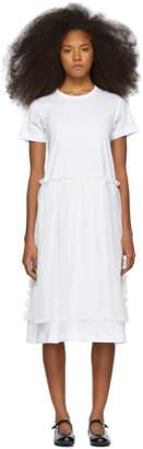 Comme des Garcons White Jersey Georgette T-Shirt Dress